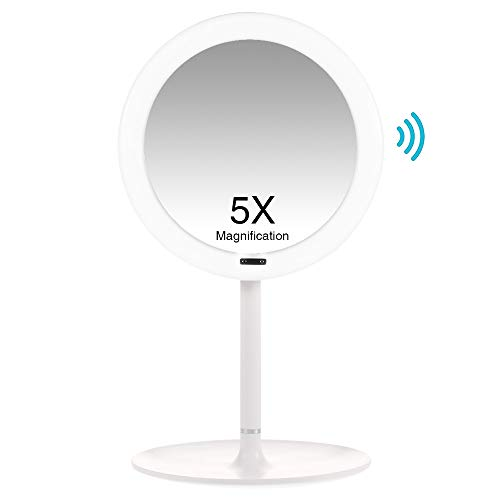Coralov Kosmetikspiegel LED Beleuchtet mit automatischem Infrarot-Sensor und 5X Vergrößerung,...