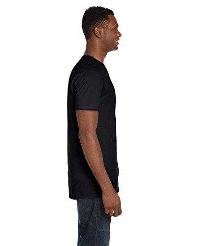 HanesHerren T-Shirt Schwarz - Schwarz