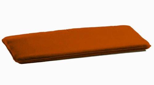 Arketicom 2 Coussins De Chaise et banquets Rectangulaire Avec 2 Lacets en mixte coton Couleur Orange 50x90x3 cm