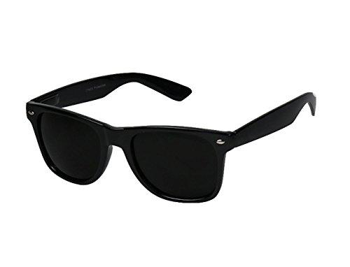 Miss Boho Chic Sonnenbrille Nerdbrille Nerd Wayfarer Retro 80's Look Brille Pilotenbrille Vintage Look (Schwarz)