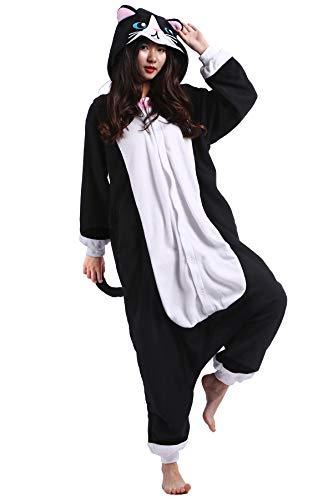 Pyjama Animal Adultes Kigurumi Cosplay Chat Noir Animal pour Unisexe