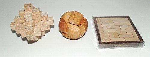 3 Holz-Knobelspiele 438,443,5401
