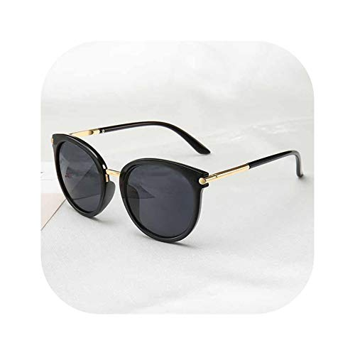 FIRM-CASE Sonnenbrille Frauen Driving Spiegel Jahrgang für Frauen Reflective flache Linse Sonnenbrillen, 1
