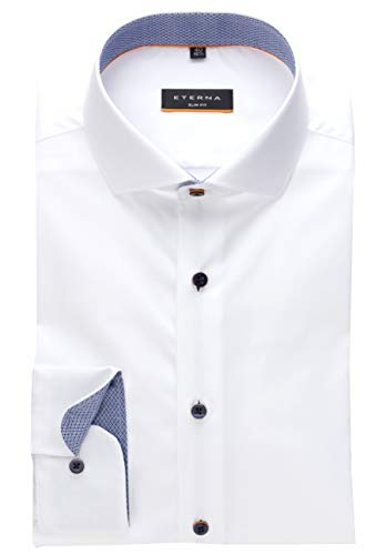 extra slim fit hemden eterna Herren Hemd Slim FIT extra Langer Arm 72 cm (42, weiß 01)