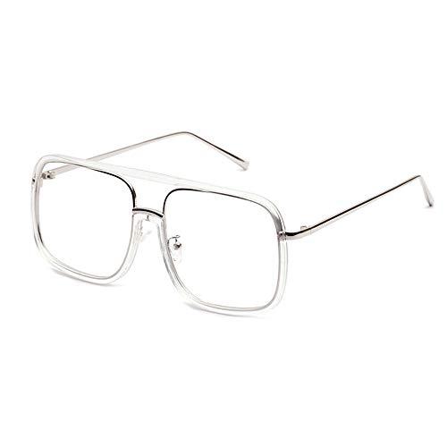 XCYQ Brillengestell Transparente Weiße Brillenfassungen Frauen Große Brillengestell Mens Fashion Accessories Classic, B