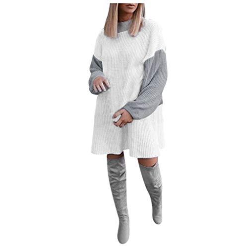 Clacce Damen Winterjacke Warm Strickjacke Rollkragen Cardigan Strickpullover Casual Wrap Wickel Pullover Sweater -