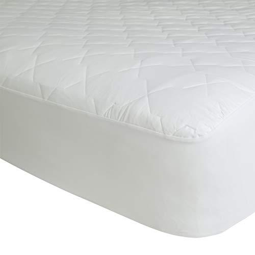 Covoco Home - Protector de colchón (algodón, 180 x 200 + 40 cm), Color Blanco