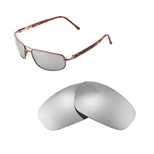 Walleva Ersatzgläser für Maui Jim Kahuna Sonnenbrille - Mehrfache Optionen (Titanium Mirror Coated - Polarisiert)