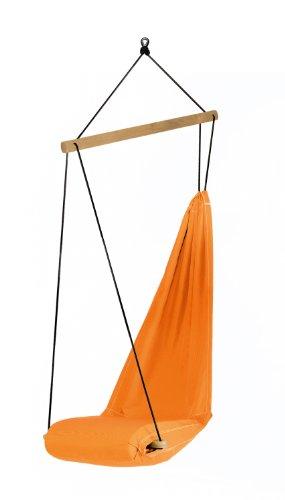 AMAZONAS Designer Hängesessel Hangover Orange mit Längsstab aus Holz 90 cm bis 150kg in Orange