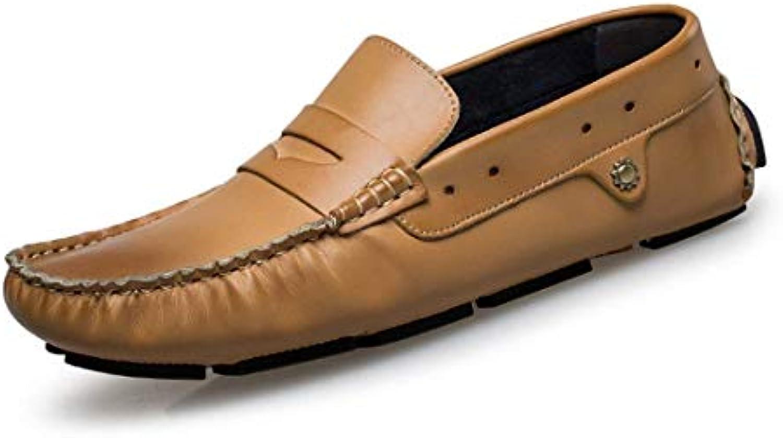 Qiusa Mocassini Casual da Uomo, a Righe, da Uomo (Coloreee   Marronee, Dimensione   6 UK) | flagship store  | Scolaro/Signora Scarpa