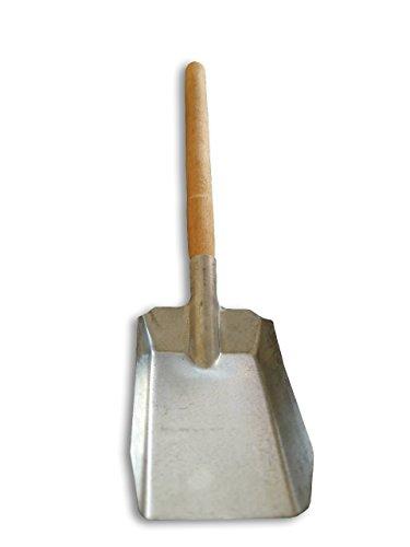 Metall verzinkt Kohle Staub Schaufel mit Holzgriff–Heavy Duty (Schaufel Mit Holzgriff)