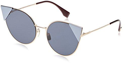 Fendi ff 0190/s a9 000 57, occhiali da sole donna, oro (rose gold/blue avio ar)