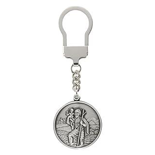 Hl. Christophorus Schlüsselanhänger 3,5 cm, 999-feinversilbert, gesegnet und geweiht
