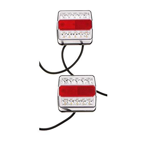 Motor-Zubehör, 1 Pair 12 V 10 LED-Leuchten für Anhänger und Rücklicht mit Magnet.