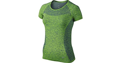 NIKE Débardeur de Dri Fit Manches Courtes en tricot pour femme Bleu/vert