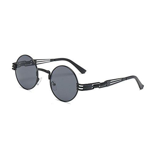 Xshuai Neue stilvolle Frauen Retro runde Gläser Unisex Anti-UV Mode Aviator Spiegel Objektiv Reise Sonnenbrille (A/B/C/D/E/F/G/H/I/J/K ) (B)