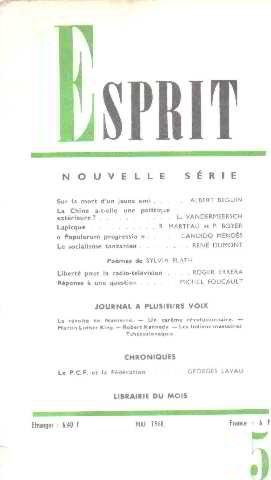 Revue esprit/ mai 1968