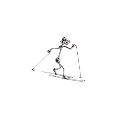 Langläufer Stahlfigur als Schraubenmännchen Schweissfigur der besonderen Art und ideales Männergeschenk Design von Hinz & Kunst