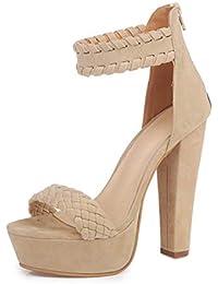 Tacón alto mujer verano 2018, Covermason Sandalias para mujer Impermeable Super High Heels