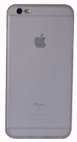 TPU Bumper Case Hülle Schutzhülle matt extra dünn in schwarz für iPhone 6 Plus / 6s Plus von ELTO transparent