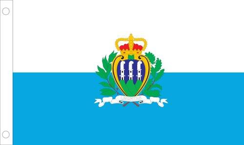 Allied Flag Outdoor Nylon San Marino United Nation Flagge mit Siegel 5 by 8-Feet