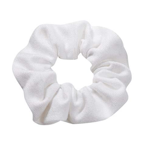 Dorical Haarband Zubehör für Frauen Mädchen Damen Elegante Elastische Einfarbig Haarbänder Vintage Schachtelhalm Halter Seil Haarschmuck Ausverkauf(Weiß)