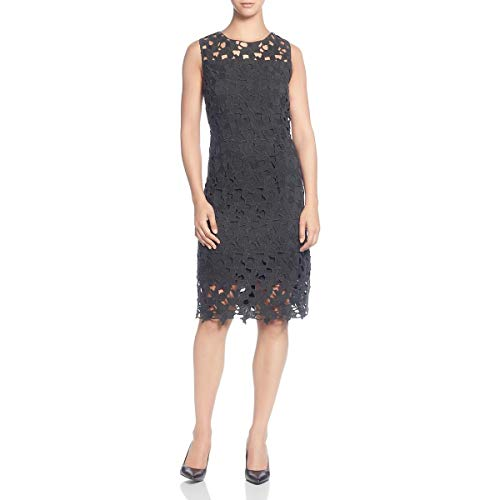 T Tahari Womens Lace Cocktail Sheath Dress