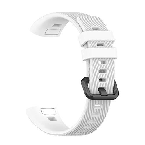 Kimi Like Armband für Huawei Band 3 Pro, Solid Color Silikon Soft Uhrenarmband für Huawei Band 3 Pro Fitness Armband
