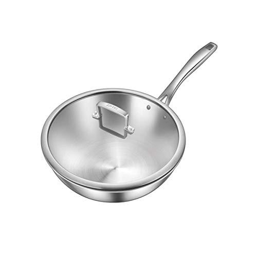 SHENGSHIHUIZHONG Potro de titanio, sin recubrimiento, Wok/pot, Wok sin humo saludable, sartén, alta calidad - Seguridad de la cocina de gas/inducción (28 cm / 30 cm / 32 cm) Ultimos modelos