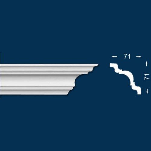 20 METROS CORNISA / MOLDURA PARA TECHO / DECORATIVA «BABERI 18» (ENVASE ECONOMICO)