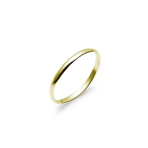 Anello, fede nuziale alta 2 mm, semplice e comoda, in argento sterling molto lucido e oro giallo, con argento, 7, cod. n2f-r-1074-7