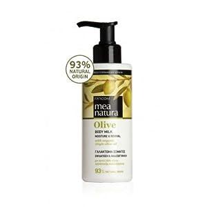 Mea Natura Leche corporal de oliva, humedad y nutrición con aceite de oliva virgen griega orgánico, para todo tipo de…