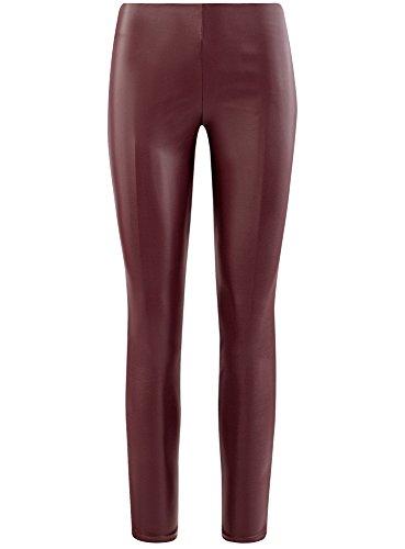 oodji Ultra Damen Hose aus Lederimitat Rot (4900N)