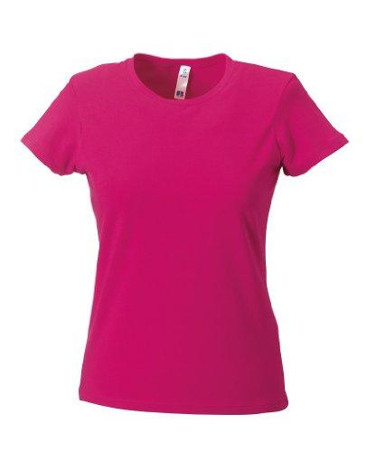 Tailliertes T-Shirt Fuchsia