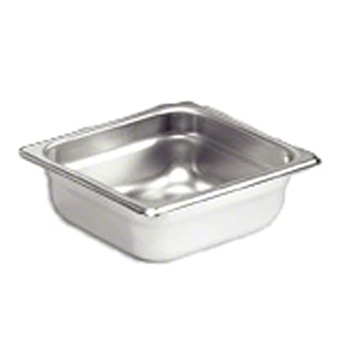 Browne-Halco 98162 Stainless Steel Anti-Jam Steam Table Pan, 1/6 Size, 2-1/2-Inch