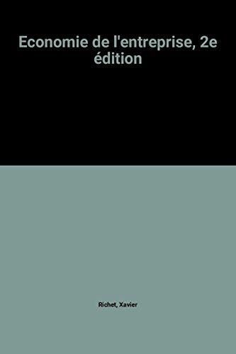 Economie de l'entreprise, 2e édition