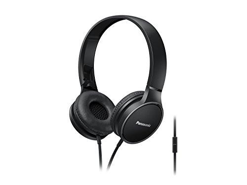 Panasonic RP-HF300ME-K On-Ear Kopfhörer (Mikrofon, Controller, zusammenfaltbar, 10-25.000 Hz, 1,2 m Flachbandkabel) schwarz Panasonic System Controller