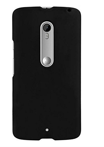 Chevron-Rubberized-Back-Cover-Case-for-Motorola-Moto-X-Play-Black