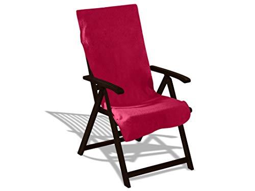Schonbezug mit Kapuze aus dem Hause Dyckhoff - erhältlich in 7 sommerlichen Farben für Gartenstuhl oder Gartenliege, Gartenstuhl, bordeaux - Auberginen-handtuch-set