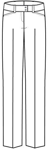 Greiff Damenhose mit niedriger Leibhöhe | Gerader Beinverlauf | 2 Seitentaschen | Breiter Doppelknopfbund Blau-Mikrodessin