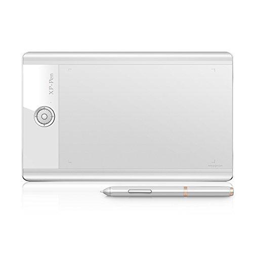 """XP-Pen Star 04 9x6"""" Grafiktablett 8GB Flash Speicher Drawing Tablet (Star 04, Weiß)"""