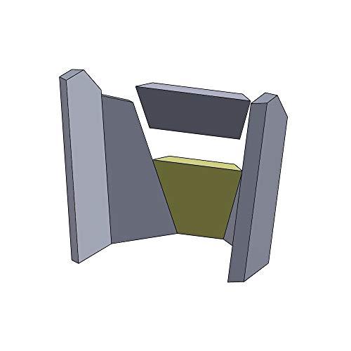 Flamado Rückwandstein unten 225x183x30mm (Schamotte)
