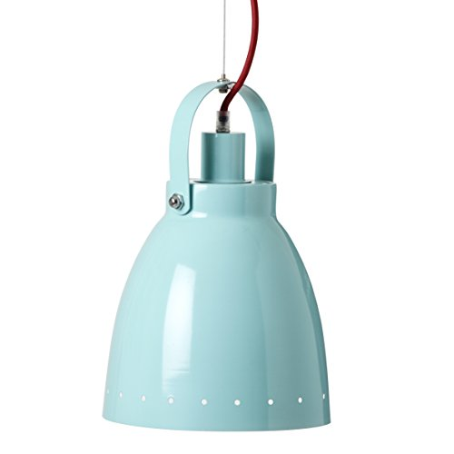 Lampe suspension métal bleu - Done by deer