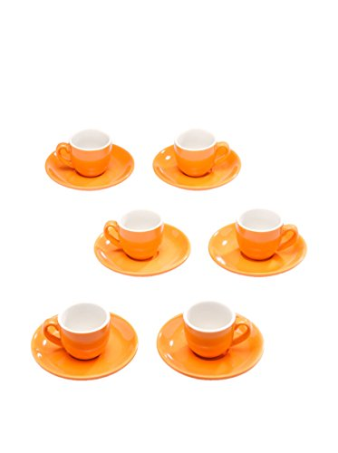 Tognana set 6 tazze caffè arancione