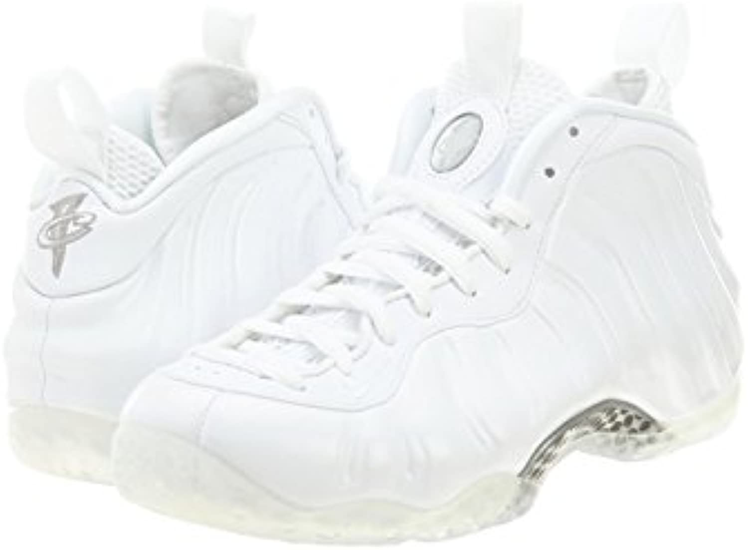 Nike Air Foamposite One Mens 314996-100, White/White-Metallic Silver, 42 D(M) EU/7.5 D(M) UK