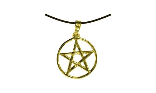 HOLZSPIELEREI Anhänger Pentagramm klein gold