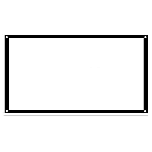 """Comaie Projektor Bildschirm tragbare Film Heimkino-Projektionszubehör für Indoor 100""""16: 9 4: 3 Konferenz Präsentation hd Wohnbildung Verwendung"""