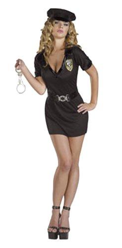 Hilmar Krautwurst Cesar–costume da donna da poliziotta sexy (4pezzi: gonna, camicia, cappello, cintura, senza manette)