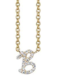 """Aastha Jain Personalised Sterling Silver""""B"""" Initial Necklace for women"""