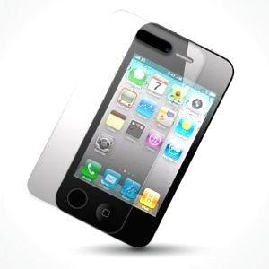 iPhone 4/4S Pack accessoires-Noir avec motif S-Line Wave en gel et texturé avec poignée à prise en main facile côtés Ensemble avec film protecteur d'écran et prise de la poussière Bouc